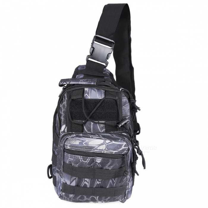 Durable Shoulder Bag, Military Tactical Backpack - Black PythonForm  ColorBlack PythonBrandOthers,Others,N/AModelN/AQuantity1 pieceMaterial600D Oxford FabricTypeHiking &amp; CampingGear Capacity5 LCapacity Range0L~20LRaincover includedNoBest UseRunning,Climbing,Family &amp; car camping,Mountaineering,Travel,CyclingTypeTactical BackpacksPacking List1 x Bag<br>