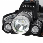 XM-L T6 3-LED White Light 13000Lm Rechargeable Headlight (US Plug)