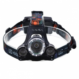 XM-L T6 3-LED White Light 13000Lm Rechargeable Headlight (UK Plug)