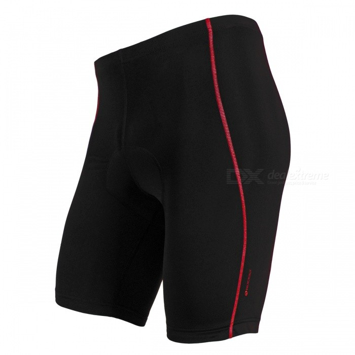 NUCKILY Unisex Breathable Lycra Riding Shorts - Red Line (XL)Form  ColorBlack + RedSizeXLModelNS352Quantity1 DX.PCM.Model.AttributeModel.UnitMaterialLycra fabricGenderUnisexSeasonsSpring and SummerShoulder WidthNo DX.PCM.Model.AttributeModel.UnitChest GirthNo DX.PCM.Model.AttributeModel.UnitSleeve LengthNo DX.PCM.Model.AttributeModel.UnitWaist72 DX.PCM.Model.AttributeModel.UnitHip Girth0 DX.PCM.Model.AttributeModel.UnitTotal Length48 DX.PCM.Model.AttributeModel.UnitCrotch Length25 DX.PCM.Model.AttributeModel.UnitLength Of Hem44 DX.PCM.Model.AttributeModel.UnitSuitable for Height173-178 DX.PCM.Model.AttributeModel.UnitBest UseCycling,Mountain Cycling,Recreational Cycling,Road Cycling,TriathlonTypeShort PantsPacking List1 x Shorts<br>