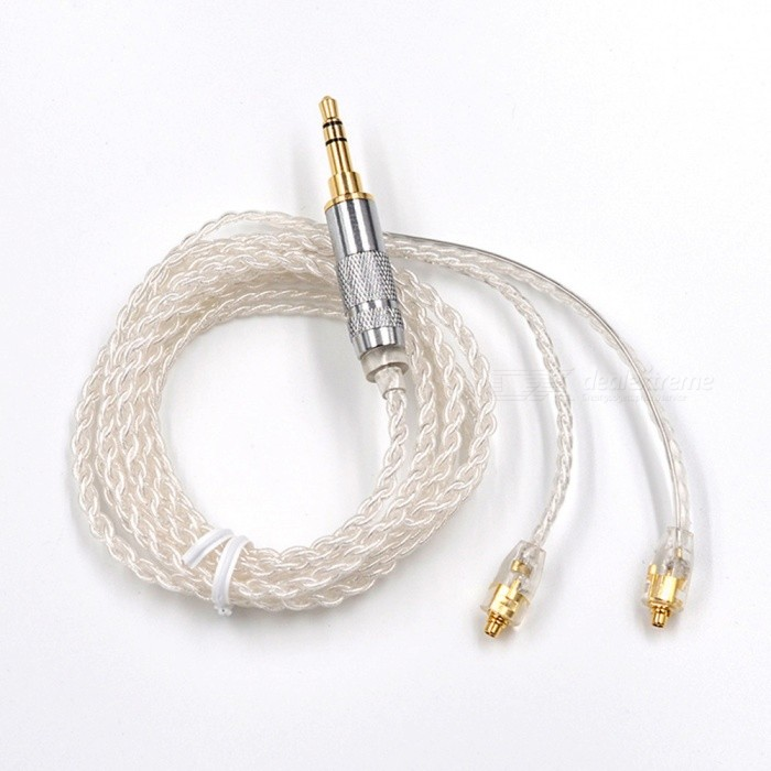 KZ MMCX Silver Plating Replacement Cable for Shure Earphone - SilverHeadphone Accessories<br>Form  ColorWhite + SilverModelMMCXMaterialKevlar fiberQuantity1 pieceShade Of ColorWhitePacking List1 x Cable<br>