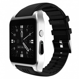 bluetooth 3G montre intelligente android w / wi-fi 4 Go - argent + noir