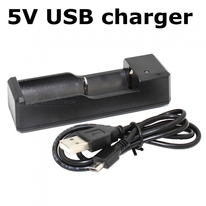 ZHAOYAO DC 5V Single Slot USB Battery Charger - BlackChargers<br>Form  ColorBlack (Single Slot)Power AdapterUS PlugModelUSB-1Quantity1 DX.PCM.Model.AttributeModel.UnitMaterialABSCharging Cell TypeLithium IonCharging Battery Type18650,AA,AAA,14500,17670,26650,Others,16340Rechargeable Battery Qty1Target Country &amp; RegionGeneralBuilt-in Protected CircuitYesInput VoltageDC5 DX.PCM.Model.AttributeModel.UnitOutput Voltage4.2 DX.PCM.Model.AttributeModel.UnitMax. Output Current1 DX.PCM.Model.AttributeModel.UnitFast Charging FunctionYesLCD ScreenNoAuto Circuit DetectionYesOver Voltage ProtectionYesShort-Circuit ProtectionYesOver-Charging ProtectionYesOver-Discharging ProtectionYesPacking List1 x Charger1 x USB cable<br>