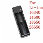 ZHAOYAO DC 5V Single Slot Chargeur de batterie USB - Noir