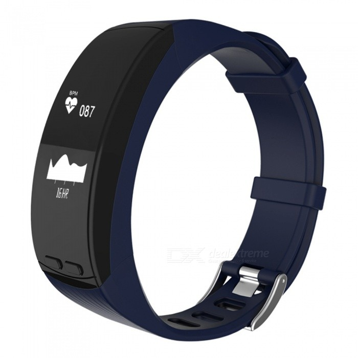 Smart Bracelet GPS Location Outdoor Running Sports Bracelet Heart RateSmart Bracelets<br>Form  ColorBlue + BlackQuantity1 DX.PCM.Model.AttributeModel.UnitMaterialABSShade Of ColorBlueWater-proofIP65Bluetooth VersionBluetooth V4.0Touch Screen TypeYesCompatible OSAndroid 4.4 or above, IOS 8.0 or aboveBattery Capacity200 DX.PCM.Model.AttributeModel.UnitBattery TypeLi-polymer batteryStandby Time5-7 DX.PCM.Model.AttributeModel.UnitPacking List1 x Fitness Tracker1 x Charging Cable1 x User Manual<br>