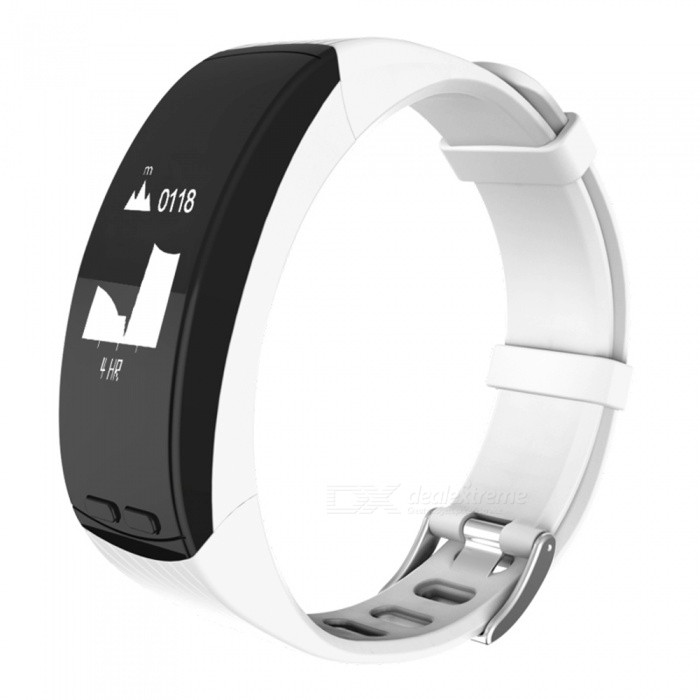 Smart Bracelet GPS Location Outdoor Running Sports Bracelet Heart RateSmart Bracelets<br>Form  ColorWhite + BlackQuantity1 setMaterialABSShade Of ColorWhiteWater-proofIP65Bluetooth VersionBluetooth V4.0Touch Screen TypeYesCompatible OSAndroid 4.4 or above, IOS 8.0 or aboveBattery Capacity200 mAhBattery TypeLi-polymer batteryStandby Time5-7 daysPacking List1 x Fitness Tracker1 x Charging Cable1 x User Manual<br>