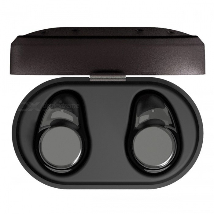 ZHAOYAO Mini Sports Wireless Bluetooth Stereo Headset Earphone - BlackHeadphones<br>Form  ColorBlackBrandOthers,ZHAOYAOMaterialPlasticQuantity1 piecesConnectionBluetoothBluetooth VersionBluetooth V4.2Headphone StyleEarbudWaterproof LevelIPX5Applicable ProductsOthersHeadphone FeaturesLong Time Standby,Noise-Canceling,With Microphone,Lightweight,For Sports &amp; ExerciseSupport Memory CardNoSupport Apt-XYesChannels4.0Packing List1 x Pair of earphones3 x Spare Earmuffs1 x Charging box1 x USB charging cable1 x User manual1 x Gift box<br>