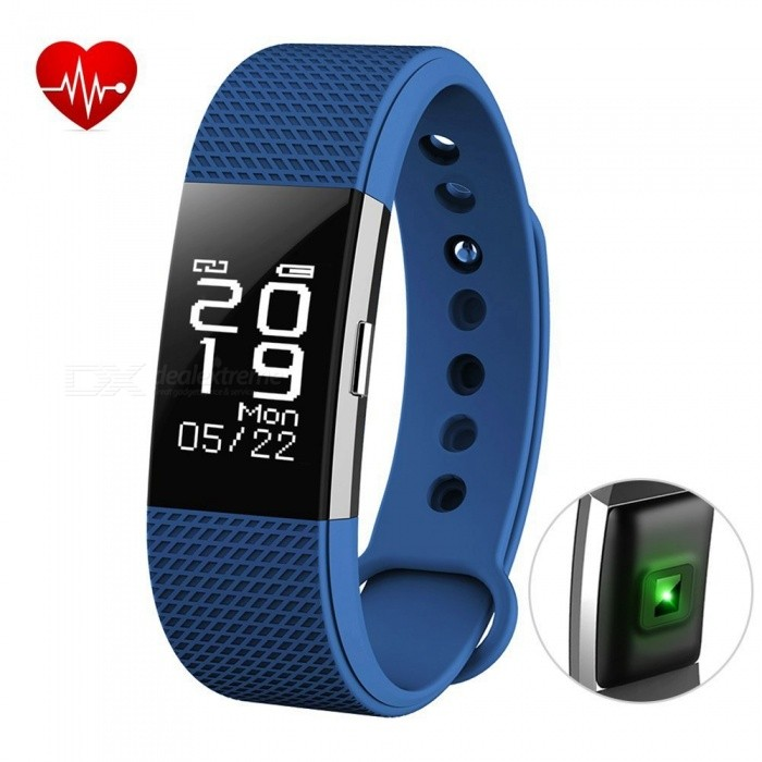 F2 Smart Bracelet with Fitness Tracker, Heart Rate Monitor - BlueSmart Bracelets<br>Form  ColorBlue + BlackQuantity1 DX.PCM.Model.AttributeModel.UnitMaterialABSShade Of ColorBlueWater-proofIP67Bluetooth VersionBluetooth V4.0Touch Screen TypeYesCompatible OSAndroid 4.4 &amp; above, IOS8.0 &amp; above, bluetooth 4.0 &amp; aboveBattery Capacity70 DX.PCM.Model.AttributeModel.UnitBattery TypeLi-polymer batteryStandby Time5-7 DX.PCM.Model.AttributeModel.UnitPacking List1 x F2 Smart Bracelet1 x User Manual<br>