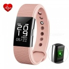 F2 Smart Bracelet with Fitness Tracker, Heart Rate Monitor - Pink