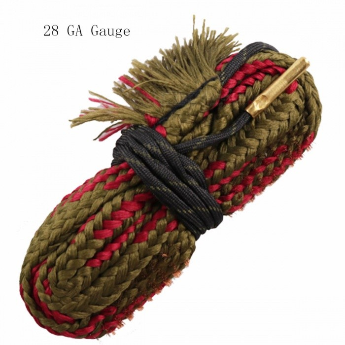 BoreSnake Rifle Bore Cleaner for 28 GA Gauge Caliber GunOther Accessories<br>Form  ColorDark Red + Brown + Multi-ColoredMaterialNylon + steel wireQuantity1 DX.PCM.Model.AttributeModel.UnitGun TypeFit for 28 GA Gauge Caliber GunPacking List1 x Cleaning cord<br>