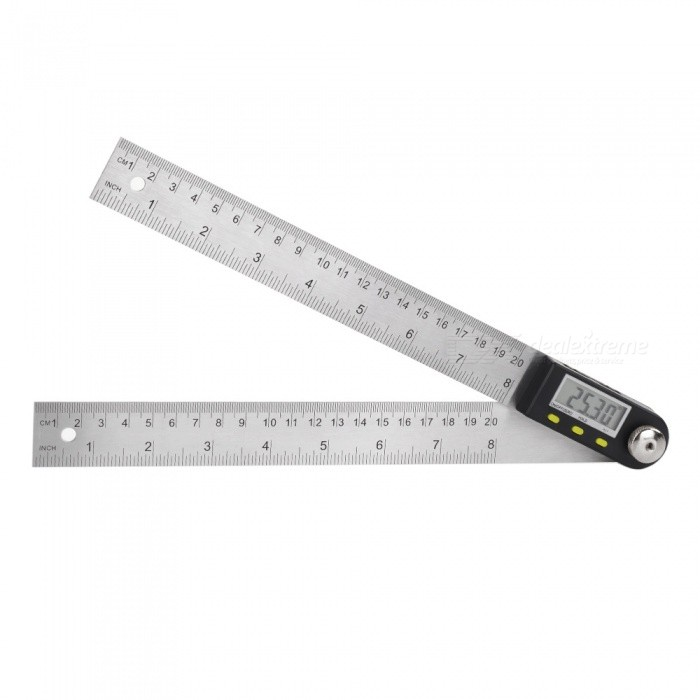 2-in-1 360 Degree 200mm Digital Angle Ruler CaliperOther Measuring &amp; Analysing Instruments<br>Form  ColorSilverModelN/AQuantity1 DX.PCM.Model.AttributeModel.UnitMaterialStainless SteelPowered ByOthers,3V CR2032 BatteryBattery Number1Battery included or notNoPacking List1 x 2-in-1 Angle Finder1 x Instruction Manual<br>