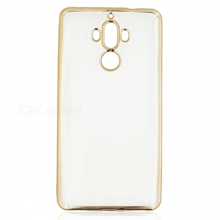 Protective Electroplating TPU Case for Huawei Mate 9 - GoldenTPU Cases<br>Form  ColorGolden + Translucent WhiteModelN/AMaterialTPUQuantity1 pieceShade Of ColorGoldCompatible ModelsHuawei Mate 9Packing List1 x Case<br>