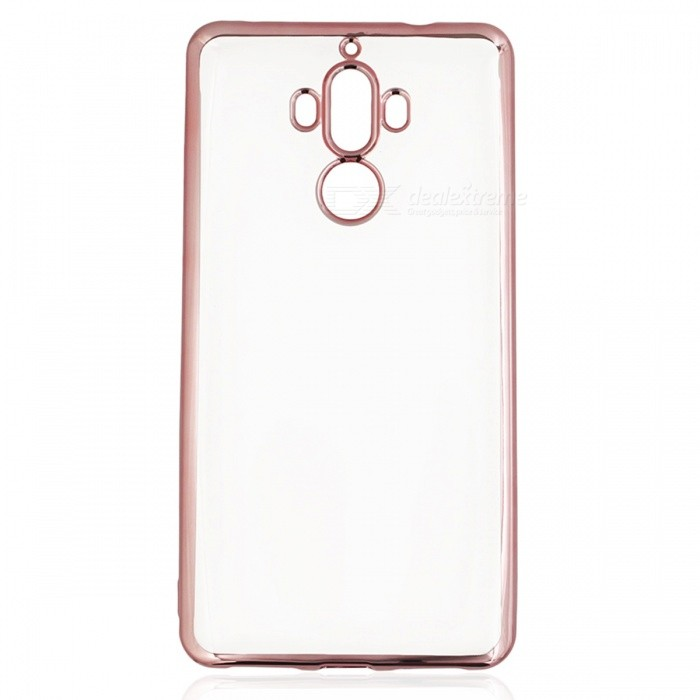 Protective Electroplating TPU Case for Huawei Mate 9 - Rose GoldTPU Cases<br>Form  ColorRose Gold + Translucent WhiteModelN/AMaterialTPUQuantity1 pieceShade Of ColorGoldCompatible ModelsHuawei Mate 9Packing List1 x Case<br>