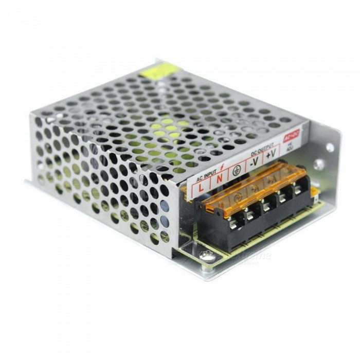 SPO AC 110~220V to DC 12V 5A 60W Switching Power Supply for LED StripSwitching Power Supply<br>Power60WForm  ColorSilver Grey + Black + Multi-ColoredMaterialAluminumQuantity1 DX.PCM.Model.AttributeModel.UnitRated Current5 DX.PCM.Model.AttributeModel.UnitRate Voltage12VWorking Temperature-40~+65 DX.PCM.Model.AttributeModel.UnitWorking Humidity20% ~ 90% RH non condensingCertificationCEOther Features1. Input voltage range(V): 110~220V<br>2. Frequency: 47~63Hz<br>3. Voltage Regulation: +10%, -10%Packing List1 x Switching power supply<br>