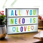 Mini Free Combination Cinematic Light Box with 104 DIY Letters