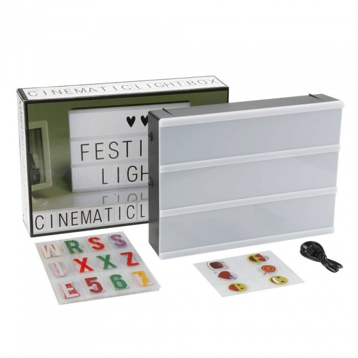 mini free combination cinematic light box with 104 diy With mini light box letters