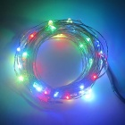 ZFC 10m 100-LED Waterproof Silver Wire RGB LED String Light