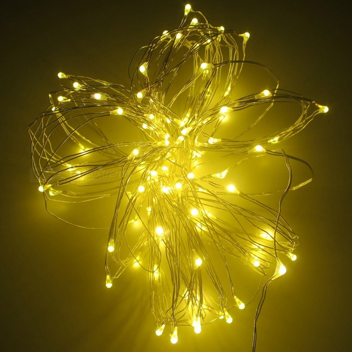 SZFC 10m 100-LED Waterproof Silver Wire Warm White LED String Light - Free Shipping - DealExtreme