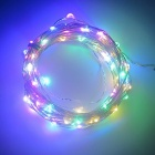 SZFC 10m 100-LED Waterproof Silver Wire Four-Color LED String Light