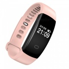 "F08 0.49 ""Bracelet Bluetooth intelligent avec cardiofréquencemètre - Rose"