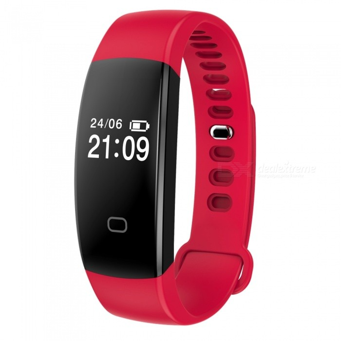 F08 0.49 Smart Bluetooth Bracelet with Heart Rate Monitor - RedSmart Bracelets<br>Form  ColorRed + BlackModelF08Quantity1 DX.PCM.Model.AttributeModel.UnitMaterialABSShade Of ColorRedWater-proofIP67Bluetooth VersionBluetooth V4.0Touch Screen TypeYesCompatible OSAndroid 4.4&amp; above ,iOS 7.1 &amp; aboveBattery Capacity65 DX.PCM.Model.AttributeModel.UnitBattery TypeLi-polymer batteryStandby Time7-15 DX.PCM.Model.AttributeModel.UnitPacking List1 x Smart Bluetooth Bracelet1 x User Manual<br>