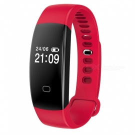 """F08 0.49"""" Smart Bluetooth Bracelet with Heart Rate Monitor - Red"""
