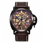 MCE 01-0060498 Men's Leather Automatic Mechanical Watch - Brown