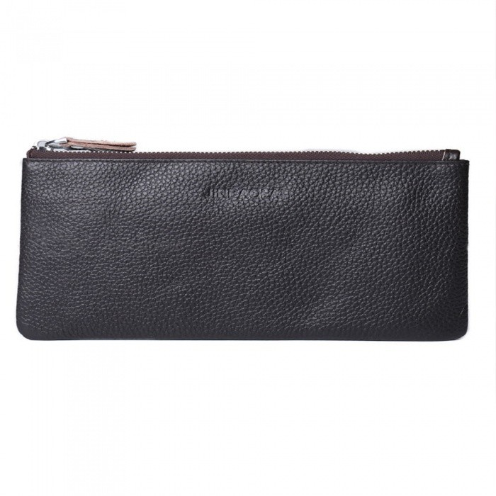 JIN BAO LAI Stylish Top Layer Cowhide Leather Mens Long Wallet PurseWallets and Purses<br>Form  ColorCoffeeModel7013#Quantity1 pieceShade Of ColorBrownMaterialLeatherGenderMenSuitable forAdultsOpeningZipperStyleFashionWallet Dimensions20.5 * 11 * 1cmOther Features6 card slots, 2 cash pockets, 1 zipper pocketsPacking List1 x Wallet<br>