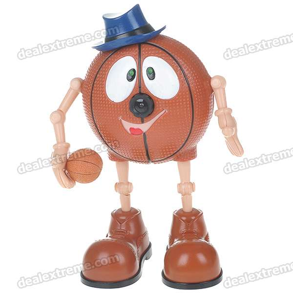 Cute Cartoon Basketball Figure 300KP USB 2.0 PC Webcam (Brown + Blue)