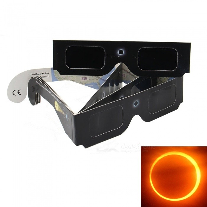 Geekworm 3D Solar Eclipse Glasses - Black (4 PCS)