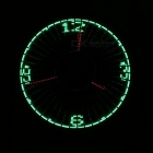 USB True Clock LED Rauta Fan Student Office Electric Mini tuuletin - musta