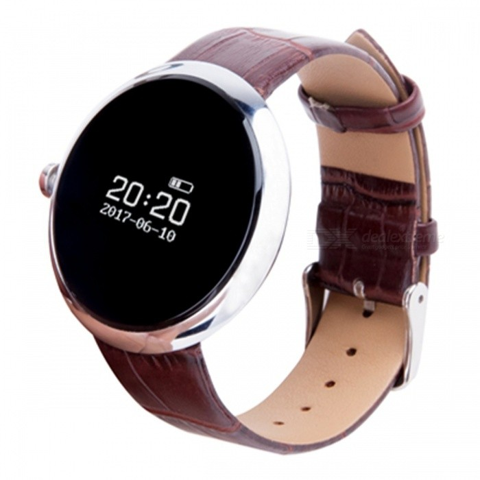 DB06 Smart Bracelet with Heart Rate Monitor - BrownSmart Watches<br>Form  ColorBrown + SilverQuantity1 DX.PCM.Model.AttributeModel.UnitMaterialIPS screen + metal + leatherShade Of ColorBrownCPU ProcessorRealtek 8762-AGScreen Size0.95 DX.PCM.Model.AttributeModel.UnitScreen Resolution240X240Touch Screen TypeYesBluetooth VersionBluetooth V4.0Compatible OSAndroid 4.3 and above or iOS 8.0 and aboveLanguageEnglishWristband Length22 DX.PCM.Model.AttributeModel.UnitWater-proofIP67Battery ModeNon-removableBattery TypeLi-polymer batteryBattery Capacity90 DX.PCM.Model.AttributeModel.UnitStandby Time10 DX.PCM.Model.AttributeModel.UnitPacking List1 x Smart band1 x Charging Cable1 x User Manual<br>