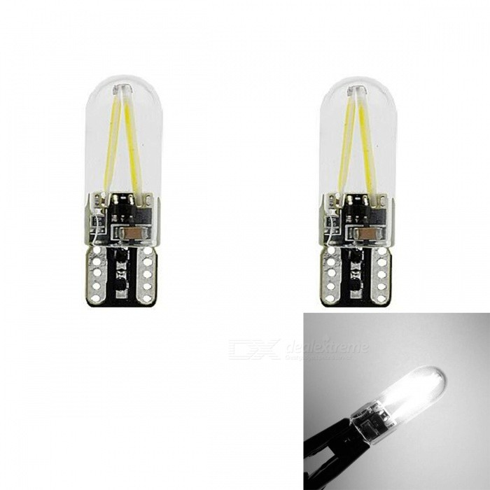 JRLED T10 2W Cold White Light COB LED Indicator Lamps (2 PCS)