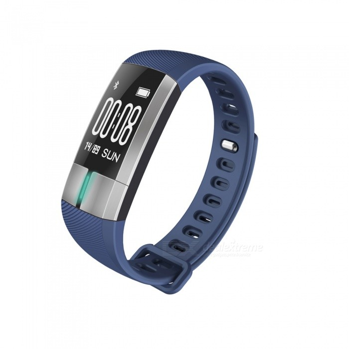 G20 0.73 OLED Smart Bracelet with Heart Rate ECG Monitor - BlueSmart Bracelets<br>Form  ColorBlueQuantity1 DX.PCM.Model.AttributeModel.UnitMaterialABSShade Of ColorBlueWater-proofIP67Bluetooth VersionBluetooth V4.0Touch Screen TypeYesCompatible OSAndroid 4.4 and aboveiOS 8.2 and aboveBattery Capacity110 DX.PCM.Model.AttributeModel.UnitBattery TypeLi-polymer batteryStandby Time10 DX.PCM.Model.AttributeModel.UnitPacking List1 x Smartwatch1 x Instruction<br>