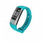 "G20 0.73"" OLED Smart Bracelet with Heart Rate ECG Monitor - Blue Green"