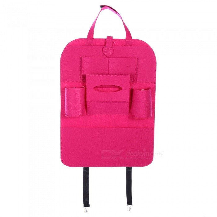 KELIMA Car Seat Back Hanging Storage Bag - Deep PinkCar Holders and Organizer<br>Form  ColorDeep PinkModelKELIMAQuantity1 pieceMaterialNon-woven ClothShade Of ColorPinkTypeBagUsing WayHanging TypeMax. Load500 gPacking List1 x Multifunctional Car Back Seat Storage Bag<br>