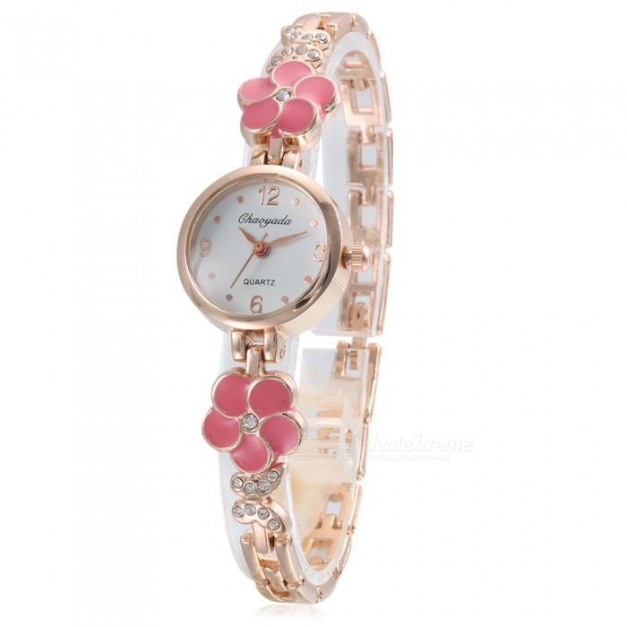 Chaoyada 1120 Rhinestone Bracelet Womens Elegant Quartz WatchWomens Bracelet Watches<br>Form  ColorGolden + Light PinkModel1120Quantity1 DX.PCM.Model.AttributeModel.UnitShade Of ColorGoldCasing MaterialElectroplating steelWristband MaterialElectroplating steelSuitable forAdultsGenderWomenStyleWrist WatchTypeFashion watchesDisplayAnalogDisplay Format12 hour formatMovementQuartzWater ResistantFor daily wear. Suitable for everyday use. Wearable while water is being splashed but not under any pressure.Dial Diameter2.4 DX.PCM.Model.AttributeModel.UnitDial Thickness0.8 DX.PCM.Model.AttributeModel.UnitBand Width0.7 DX.PCM.Model.AttributeModel.UnitWristband Length21 DX.PCM.Model.AttributeModel.UnitBattery1 x LR626 battery (included)Packing List1 x Watch<br>