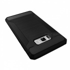 Carbon Fiber TPU Protective Case for Samsung Galaxy S8 - Black