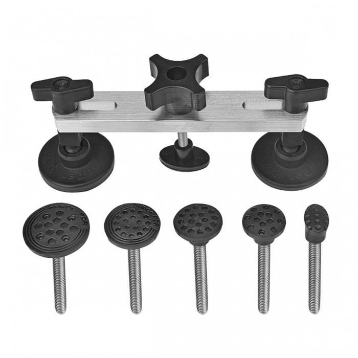 Paintless Car Dent Repair Pulling Bridge Tool KitOther Tools<br>Form  ColorBlackQuantity1 DX.PCM.Model.AttributeModel.UnitMaterialPlasticPacking List1 x Pulling bridge set2 x Black glues (free gift)<br>