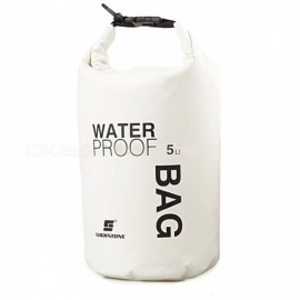 5L Outdoor Sports Rafting Waterproof Storage Bag - White