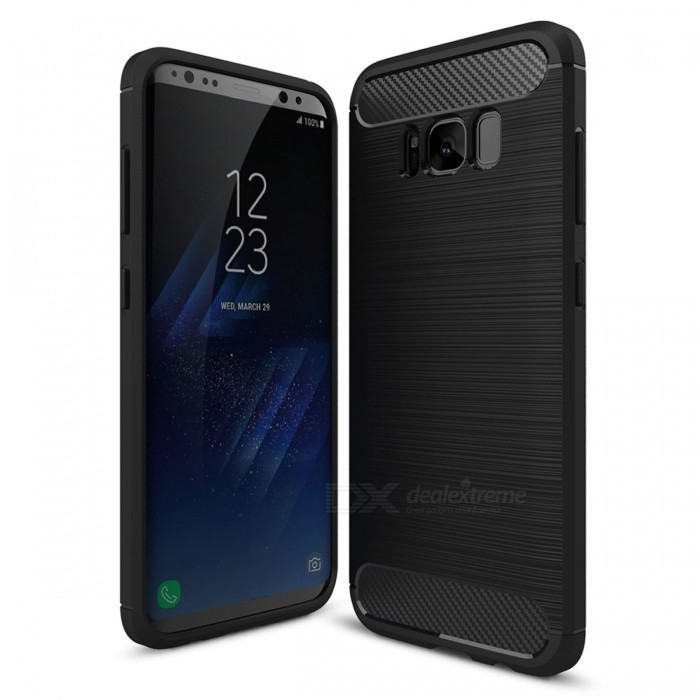 Dayspirit Wire Drawing Carbon Fiber TPU Case for Samsung Galaxy S8TPU Cases<br>Form  ColorBlackModelN/AMaterialTPUQuantity1 pieceShade Of ColorBlackCompatible ModelsSamsung Galaxy S8Packing List1 x Case<br>