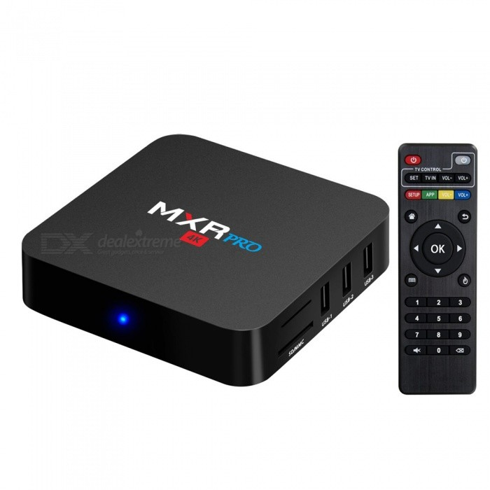 MXR Pro Android 7.1.1 USB3.0 TV Box with 4GB RAM, 32GB ROM (US Plug)