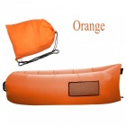 Waterproof Lazy Air Sofa Bed, Lounger Inflatable Camping Bag - Orange