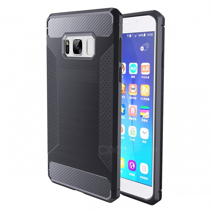 Wire Drawing Fiber TPU Case for Samsung Galaxy S8 Plus - Deep GreyTPU Cases<br>Form  ColorDark GreyModelS8P-CQuantity1 DX.PCM.Model.AttributeModel.UnitMaterialTPUShade Of ColorGrayCompatible ModelsSamsung Galaxy S8 PlusDesignSolid ColorStyleBack CasesPacking List1 x Case<br>