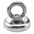 JEDX D36mm NdFeB Eyebolt Circular Ring Magnet for Salvage - Silver
