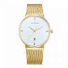 CAGARNY 6817 Fashion Ultra Thin Men's Quartz Watch - White, Golden