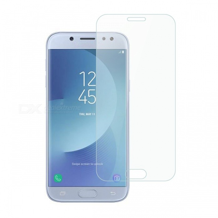 Dayspirit Tempered Glass Film for Samsung Galaxy J5(2017)(EU), J530Screen Protectors<br>Form  ColorTransparentScreen TypeGlossyModelN/AMaterialTempered glassQuantity1 pieceCompatible ModelsSamsung Galaxy J52017), J530FeaturesTempered glassPacking List1 x Case<br>