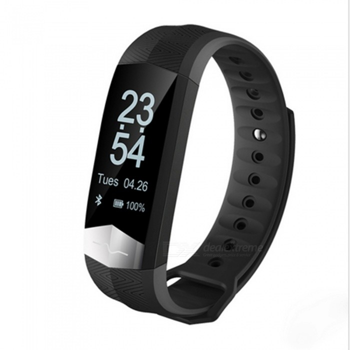 CD01 Smart Bracelet with Heart Rate Monitor Blood Pressure - BlackSmart Bracelets<br>Form  ColorBlackQuantity1 DX.PCM.Model.AttributeModel.UnitMaterialABSShade Of ColorBlackWater-proofIP65Bluetooth VersionBluetooth V4.0Touch Screen TypeYesCompatible OSIOS 8.2 and above and Android 4.4and aboveBattery Capacity85 DX.PCM.Model.AttributeModel.UnitBattery TypeLi-polymer batteryStandby Time5-7 DX.PCM.Model.AttributeModel.UnitPacking List1 x Smart Wristband 1 x User manual<br>