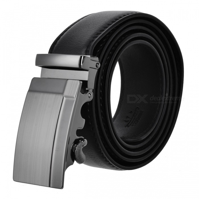 Mens Leaf Pattern Automatic Buckle Leather Belt - Black (120cm)Belts and Buckles<br>Form  ColorBlackQuantity1 DX.PCM.Model.AttributeModel.UnitShade Of ColorBlackMaterialTwo ply cowhideGenderMenSuitable forAdultsBelt Length120 DX.PCM.Model.AttributeModel.UnitBelt Width3.5 DX.PCM.Model.AttributeModel.UnitPacking List1 x Mens belt<br>