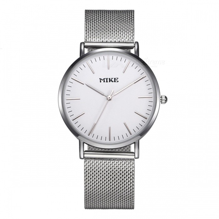 MIKE 8070 Simple Style Unisex Quartz Watch - SilverQuartz Watches<br>Form  ColorWhite SilverModel8070Quantity1 DX.PCM.Model.AttributeModel.UnitShade Of ColorWhiteCasing MaterialAlloyWristband MaterialMetalSuitable forCoupleGenderUnisexStyleWrist WatchTypeFashion watchesDisplayAnalogBacklightNoMovementQuartzDisplay Format12 hour formatWater ResistantFor daily wear. Suitable for everyday use. Wearable while water is being splashed but not under any pressure.Dial Diameter4 DX.PCM.Model.AttributeModel.UnitDial Thickness1 DX.PCM.Model.AttributeModel.UnitWristband Length23 DX.PCM.Model.AttributeModel.UnitBand Width2 DX.PCM.Model.AttributeModel.UnitBattery626Packing List1 x Watch<br>